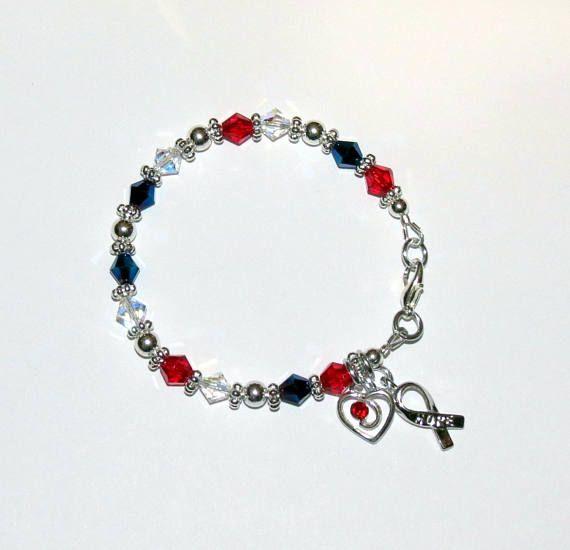 CHD Awareness Swarovski Crystal Bracelet/Heart