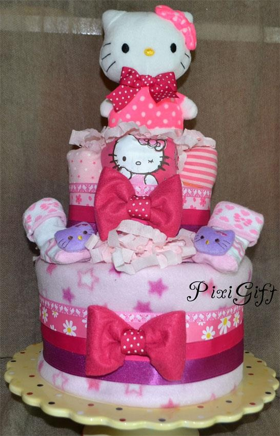 diaper cake hello kitty