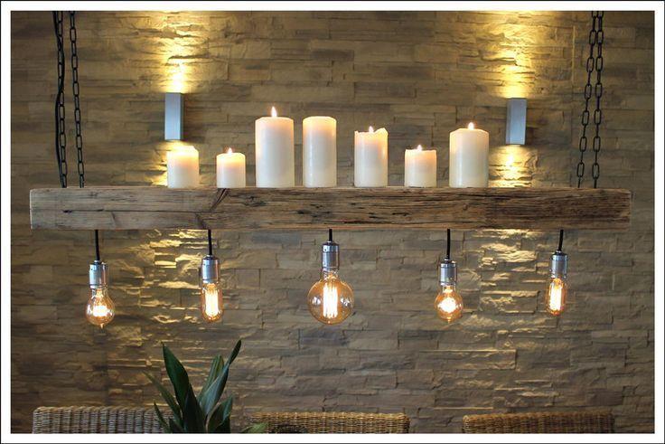 **RETRO LAMPE **EDISON ** AUS ALTEM BAUHOLZ** Dieses liebevoll und aufwendig aufgearbeitete Bauholz ist der Hingucker schlechthin. Zum einen dient es als Lampe, zum anderen bietet die   – aubenkuche.todaypin.com