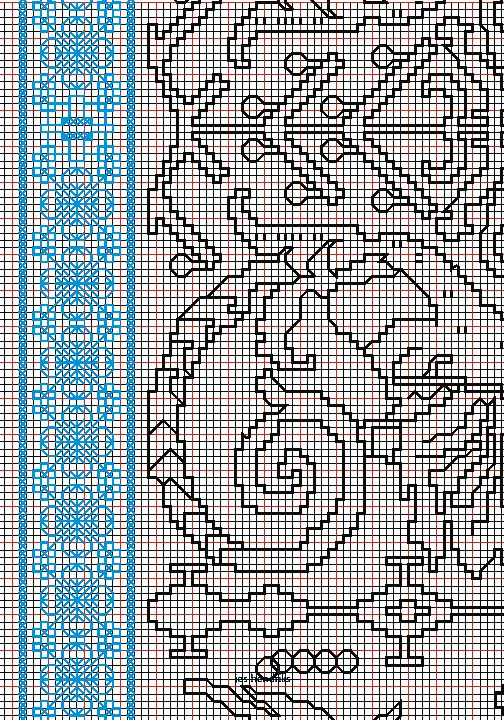 "working drawing 1 for Assisi embroidery design ""sea square"""