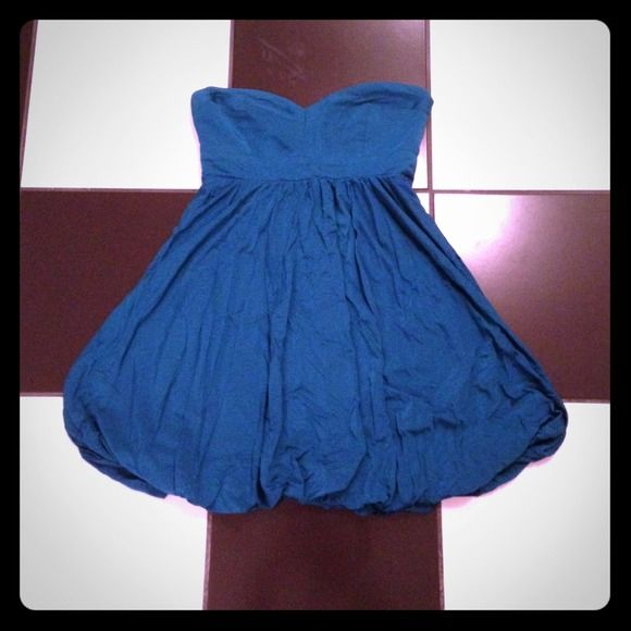 Blue strapless party dress! Blue strapless party dress! Please note the clear hanger straps have been cut. Used. Good condition. Forever 21 Dresses