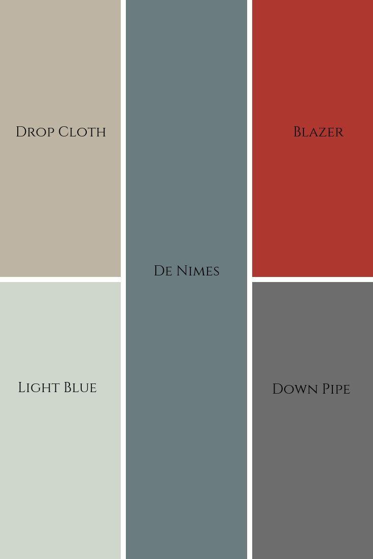 Farrow And Ball Colour Palette Modern Colour Palettes In 2019