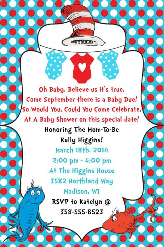 Dr. Seuss Baby Shower Invitation Digital File by ...
