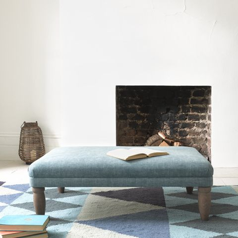 BISCUIT FOOTSTOOL. Good enough to nibble, this cheeky footstool is a little slab of gorgeous. Neat, sweet and petite. Lovely. #footstool #livingroom
