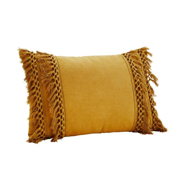 Tassle bohemian cushion