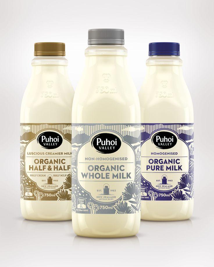 label / Puhoi Organic Milk