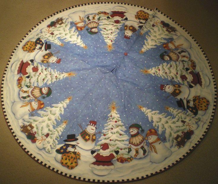 snowman tree skirts | snowman tree skirt | Christmas Stuff