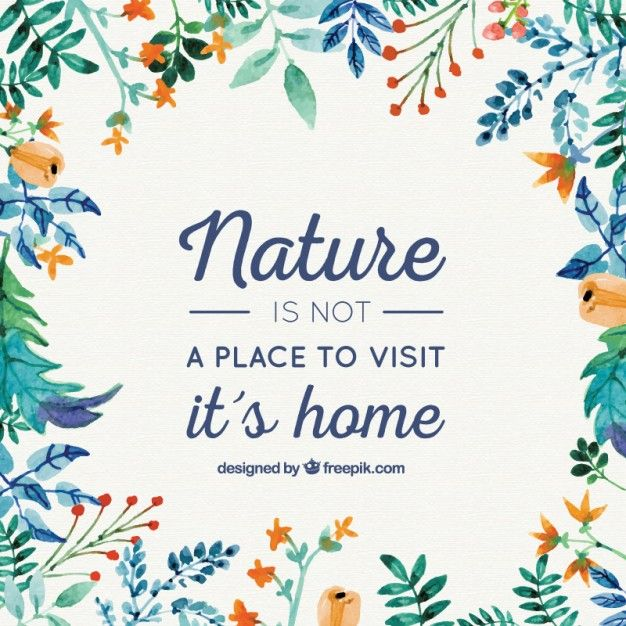 Nature is our home background Free Vector