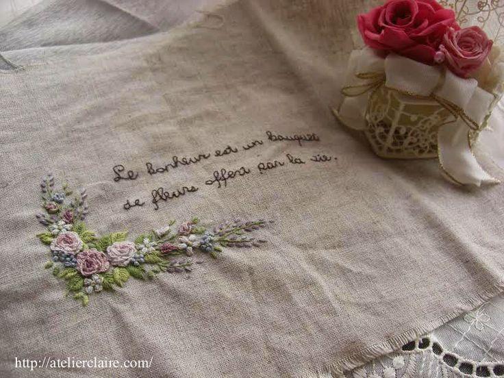 favori の作品を作ってみましたとメッセージをいただきました♪ : 東京・自由が丘 井上ちぐさの刺繍&カルトナージュ教室 Atelier Claire(アトリエクレア)