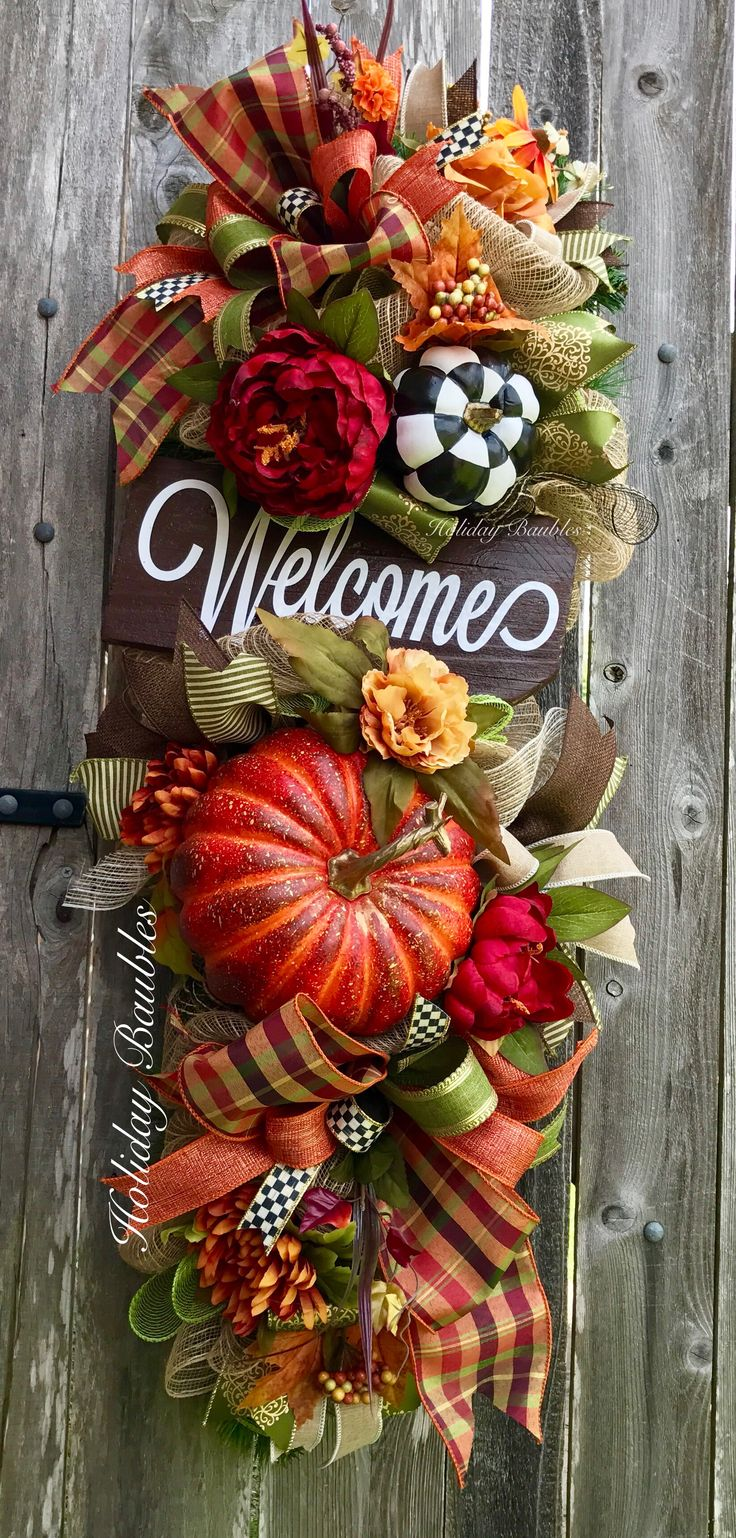 Welcome Fall Swag by Holiday Baubles