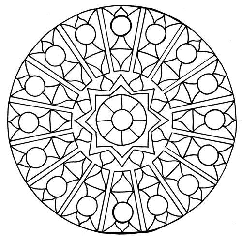 mandala circle coloring pages - photo#36