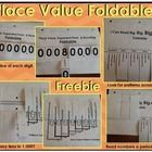 This package contains three place value foldables. The foldable may be used to discuss place value patterns. To make foldables, cut on dotted lines...