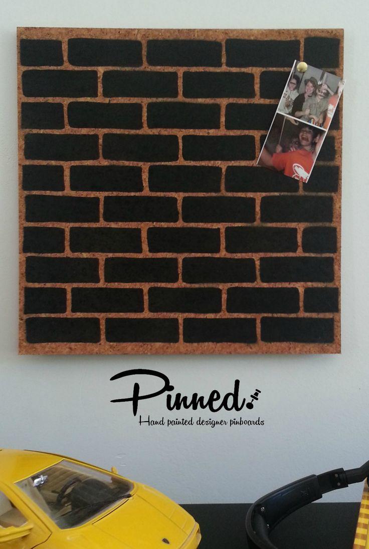 Brick design cork pinboard #pinboard #corkboard #bricks #superhero #boysroom http://binaryoptions360review.com/