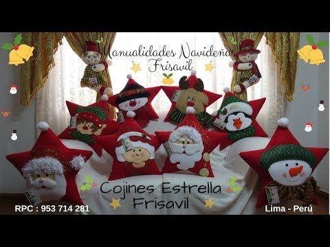Cojines Estrella Frisavil Ocho Lindos cojines hechos a mano , cada uno con diferente diseño.