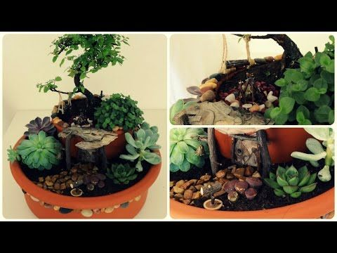 fairy garden 3 minigarten im topf youtube projects. Black Bedroom Furniture Sets. Home Design Ideas