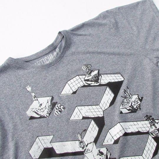 Polera 33 y 1/2 - Franela de algodón Gris deportivo Color gris  Tallas S, M, L, XL  Hola@clubparticular.com