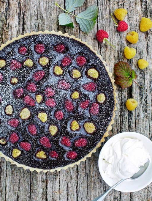 Chocolate & raspberry tart | Jamie Oliver | Food | Jamie Oliver (UK)