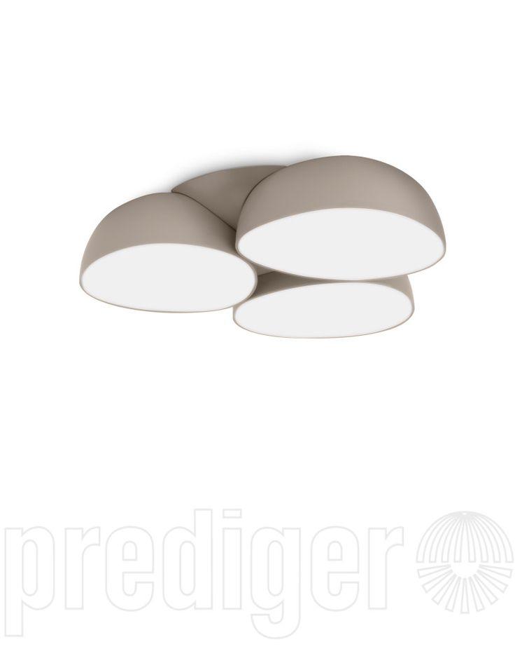 philips instyle stonez led deckenleuchte 40828 87 16 grau. Black Bedroom Furniture Sets. Home Design Ideas