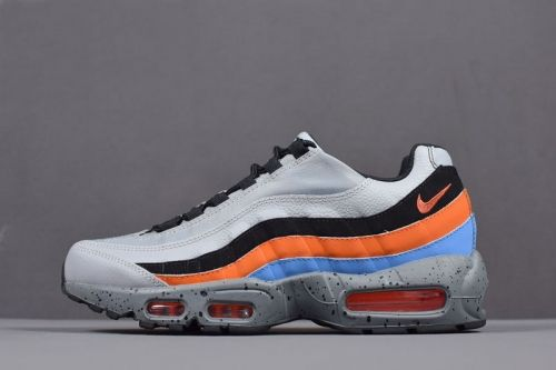 timeless design 98191 8ba70 New Arrival Nike Air Max 95 Premium Wolf Grey Safety Orange Mens Size  538416-015 For Sale - ishoesdesign