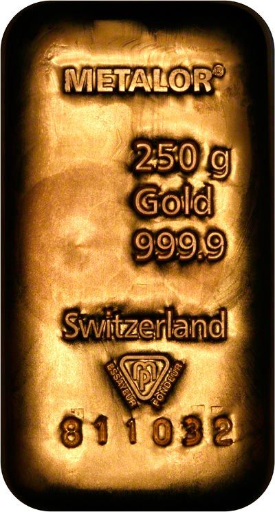 Metalor Gold Bullion Bars and Ingot gallery and information resource