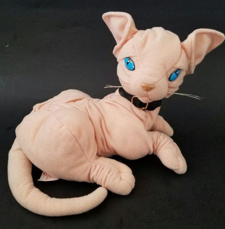 TrendMasters Mr Bigglesworth Talking Plush Cat 1998 Austin Powers Dr Evil Works