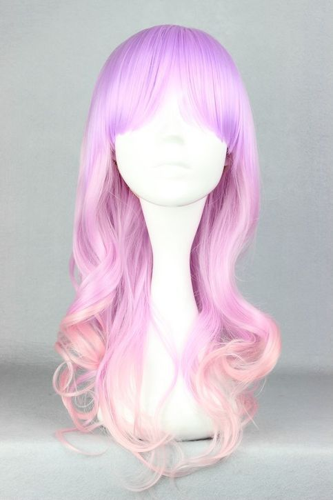 Material:100% High Temperature Fiber Weight:260G Color: Multi-Color Modeling: Curly Length:55CM (21.6Inch)