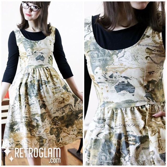We are digging the new #retrolicious Palaeontologist dress - in store and online now! #palaeontologist #retroglamclothing #rowenaedmonton #dinosaurs #dinosaurdress #retroglam #retroglamstyle #mapdress #altfashion #yeg #yegfashion #yegshopping #canada #old