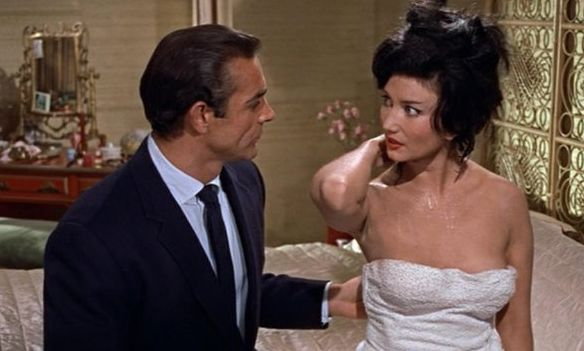 Still of Sean Connery and Zena Marshall in Dr. No (1962)