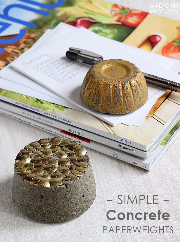Simple diy concrete paperweight ideas so simple and easy for Concrete craft molds