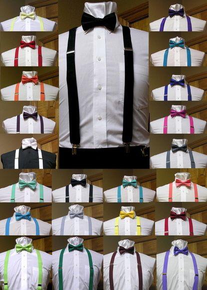 kit suspensório e gravata borboleta