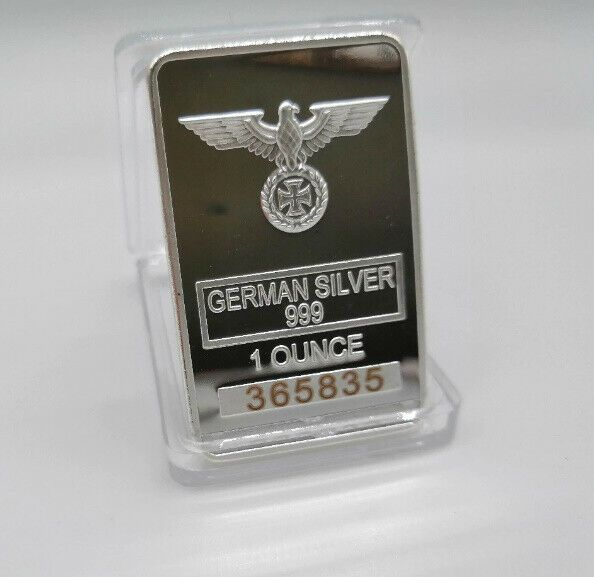 German Coin Collection 1oz 999 Fine Silver Bar With Eagle Coin Germ German Coins Bullion Coins Silver Bullion