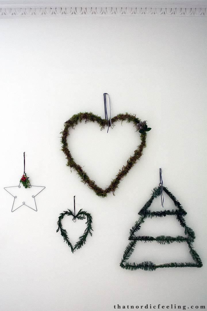 DIY simple Scandinavian Christmas decorations with elements of nature via that nordic feeling
