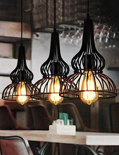 Loft Vintage Pendant Light American Industrial Wind Bar C..