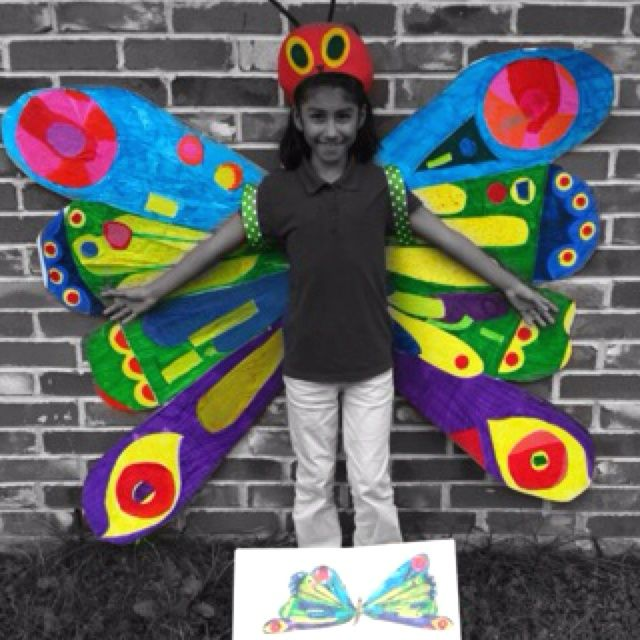 Very Hungry Caterpillar Butterfly Costume Homemade costum...