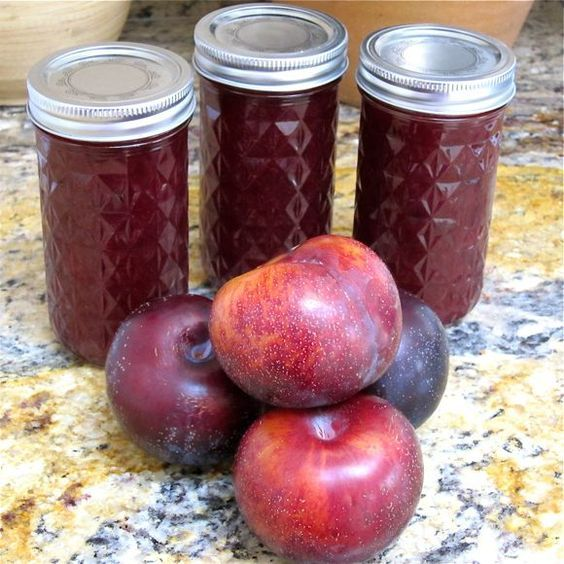 Plum butter. Easy plum recipe. How to can fruit butter. Low sodium recipe.
