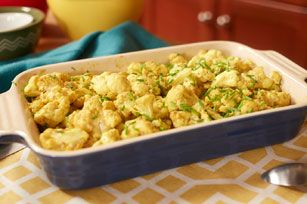 Can veggies be a main? They sure can. MIRACLE WHIP Curry-Roasted Cauliflower recipe. #vegetarian