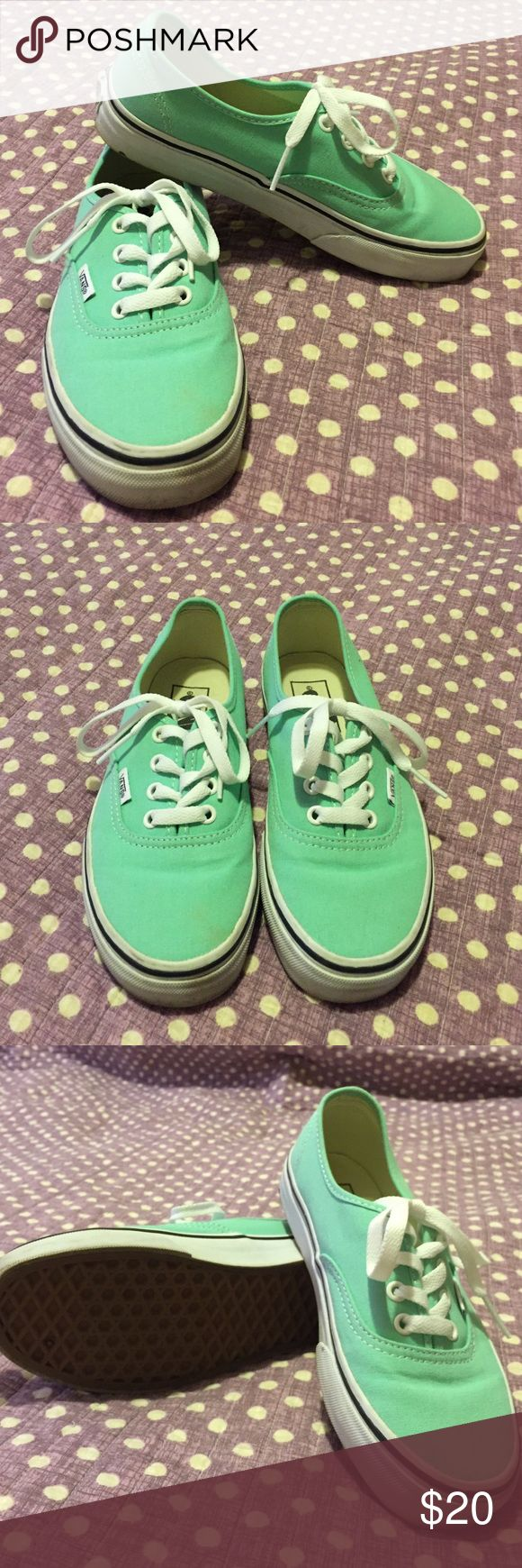 New teal Vans New, fresh and clean! Teal Vans Vans Shoes Sneakers