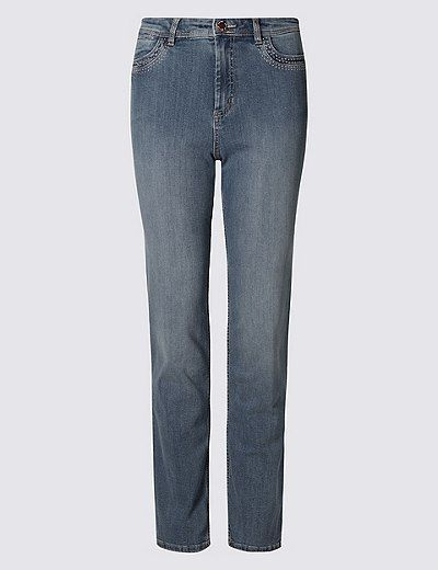 Sculpt & Lift Straight Leg Jeans | Marks & Spencer London