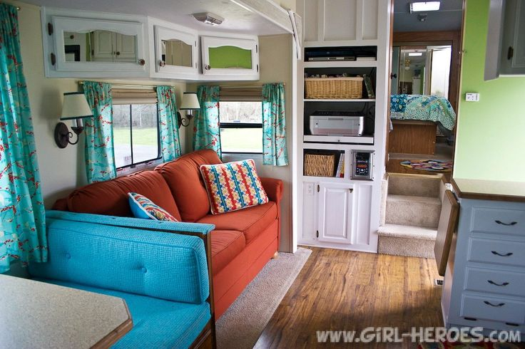 Gypsy Interior Design Dress My Wagon| Serafini Amelia| Travel Trailer-Interior Design Inspiration| RV-Redecorated-Living-Room-2.jpg 1,000×667 pixels