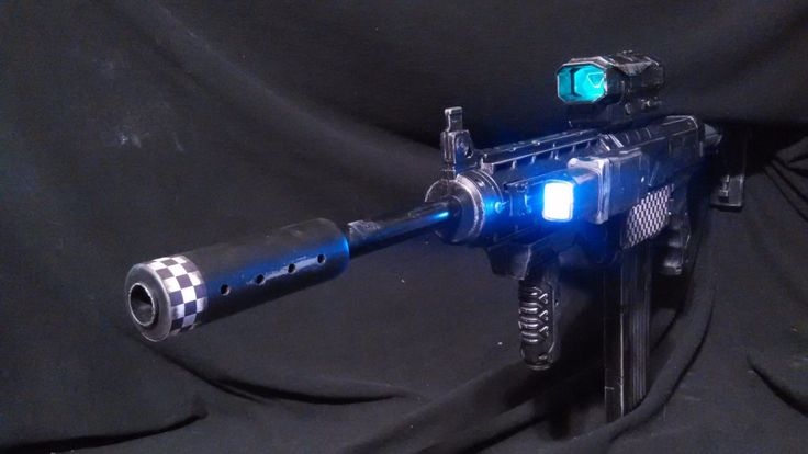 Nerf RECON MODDED PAINTED Tactical Black  W/CUSTOM BARRELNO RESTRICTORS