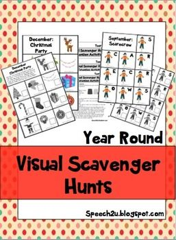 Visual Scavenger Hunts: Eye contact, Joint Attention or Open Ended games