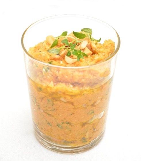 Søtpotetpesto med cashewnøtter og timian #vegan #sweet_potato #thyme #vegetarian #dip #condiment