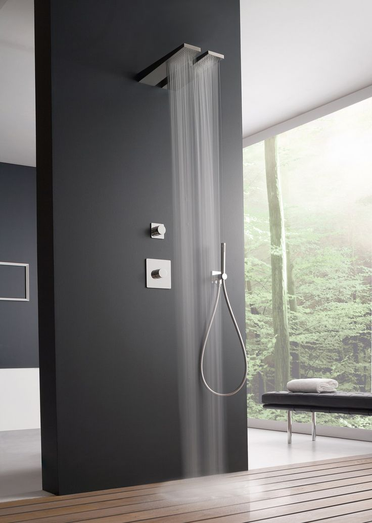 Minimalist Bathroom// modern shower by Zazzeri at ISH 2015 #bathroom @zazzeri