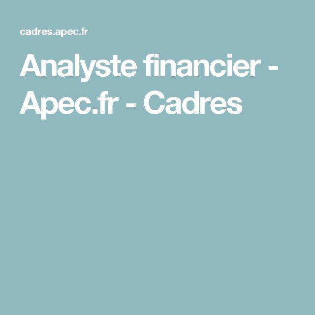 Analyste financier - Apec.fr - Cadres