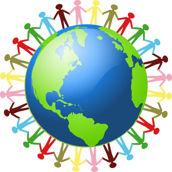 peace circles restorative justice | People Holding Hands Around The World clip art - vector clip art ...