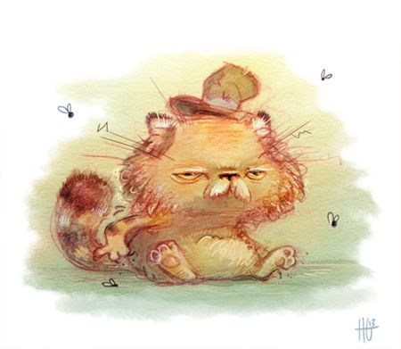 Another hobo cat. Heather Gross (Heathersketcheroos), Cute art