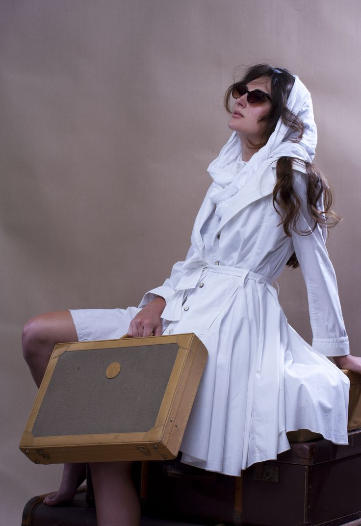 Swing Coat . White 100% cotton - WEISS Cape Town