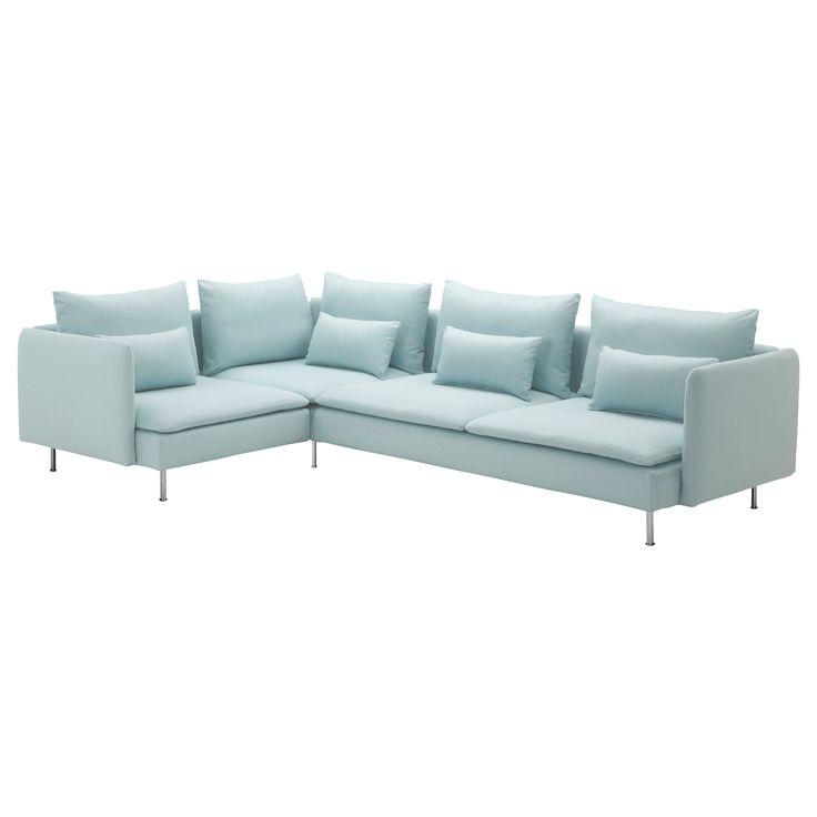 SÖDERHAMN Corner sofa - Isefall light turquoise - IKEA $1,058
