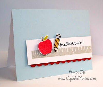Teacher card by Krystie Hersch.  CleanAndSimpleCards.com
