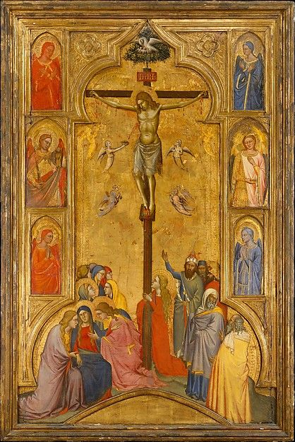 Early Renaissance  --  The Crucifixion  --  Circa 1365  --  Andrea do Cione  (Orcagna)  Italian, Florence  --  Tempera on wood w/ gold ground  --  The Metropolitan Museum of Art